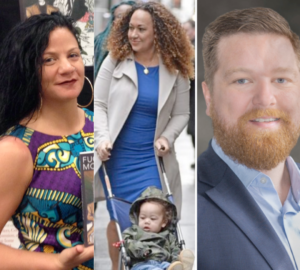 Jessica Krug, Rachel Dolezal, and Craig Chapman (Left to Right)